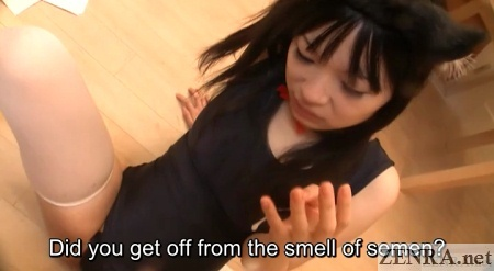 semen dripping from fingers of hina maeda