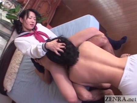 reverse cowgirl sex with cunnilingus from slave