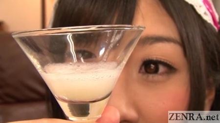 otsuki hibiki eyes glass full of cum