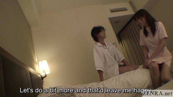 nanpa during massage in japan