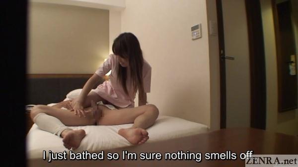 cmnf erection on display during massage