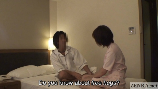 free hug nanpa attempt with hotel masseuse