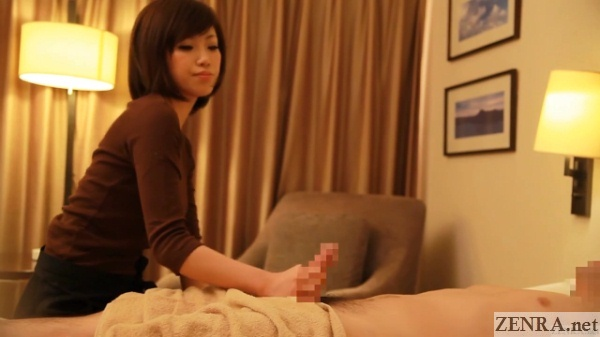 beautiful hotel room handjob