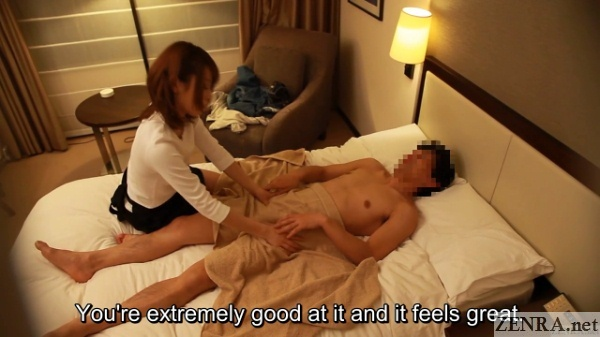 client commends masseuse on good service