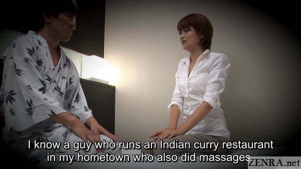 japanese customer introduces masseuse to indian massage