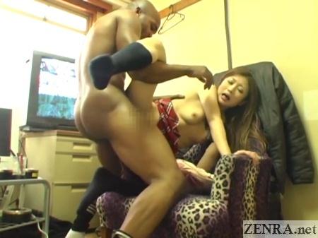 black man standing sex with schoolgirl in break room