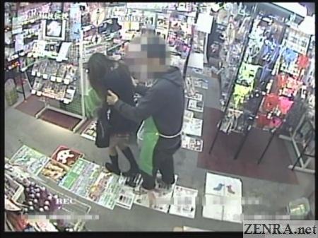 clerk confronts schoolgirl shoplifter