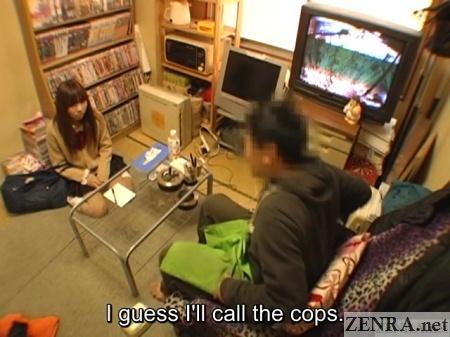 clerk threatens schoolgirl with phone call to authorities
