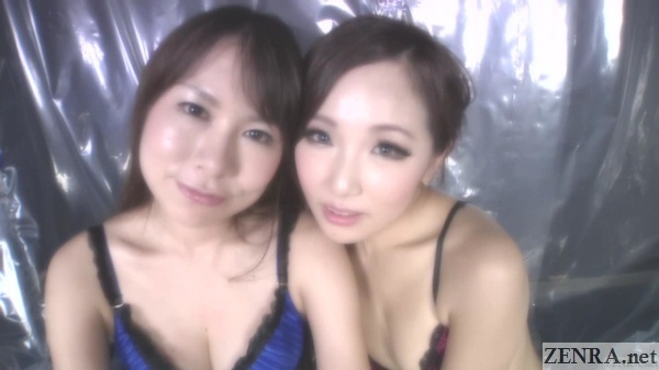 glamorous japanese women in lingerie