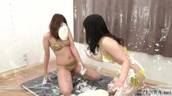 japanese av star pie in face