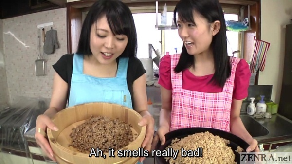japanese women with natto