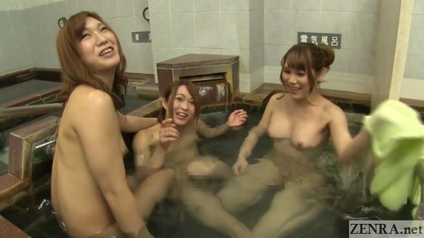 newhalfs bathing at japanese bathhouse