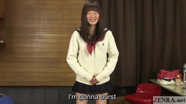 schoolgirl in japan pee desperation