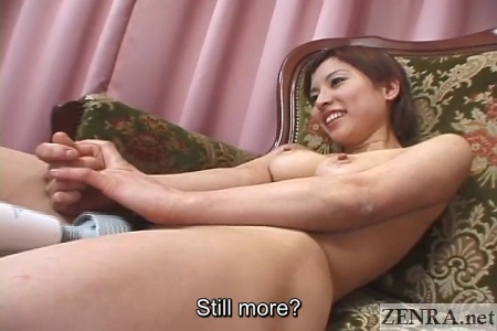 naked japanese aki katou breasts squeezed together