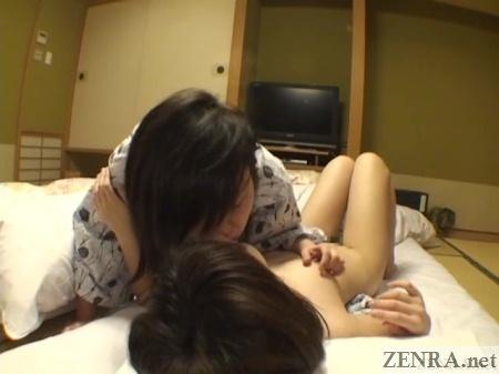 cfnf deep kissing japanese lesbians at ryokan