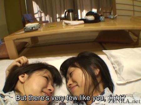 cuddling japanese lesbians in yukatas