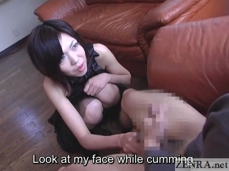 cfnm orgasm while looking into eyes of lewd woman