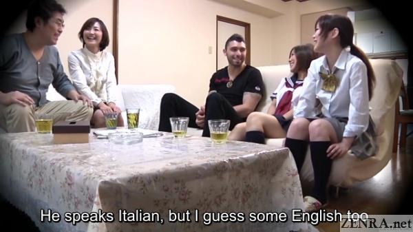 italian man on japanese homestay