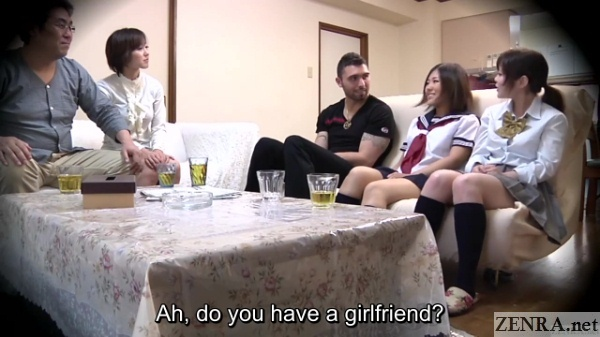 foreigner asked by schoolgirls if he has girlfriend