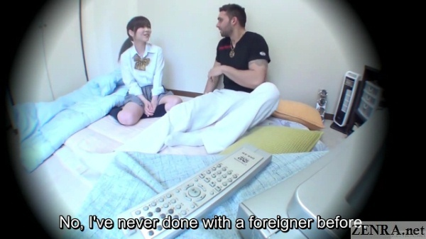 japanese schoolgirl first time with foreigner