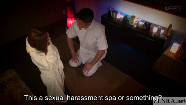 angry japanese woman confronts lewd massage therapist