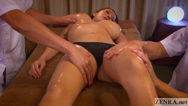 japanese huge breast massage by two therapists