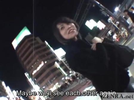 unfaithful japanese wife parts with av director outside in shibuya