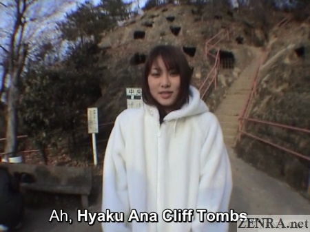 hyaku ana cliff tombs japanese public exposure