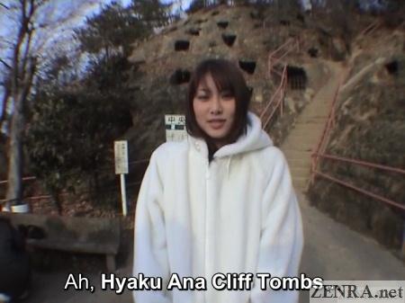 hyaku ana cliff tombs japanese public exposure