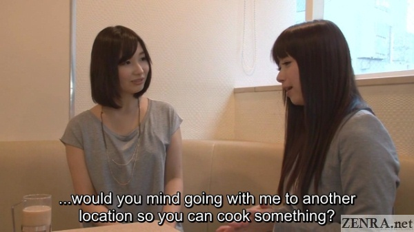 tsubaki katou asks amateur woman to cook for her