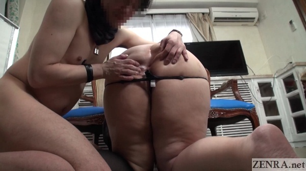 big thick japanese butt cheeks spread open