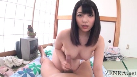nipple to erection rubbing with uehara ai
