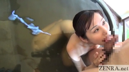 blowjob in outdoor japanese bath