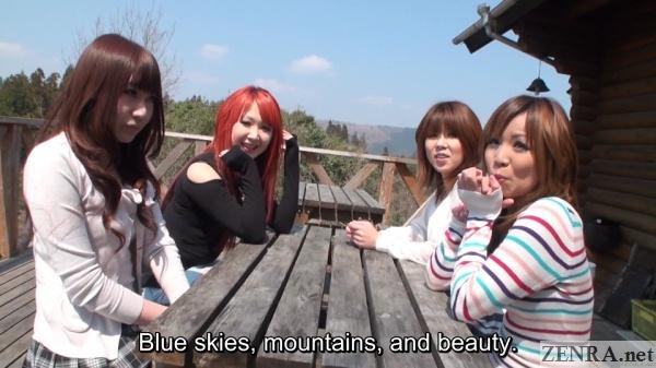 beautiful japanese women in nature