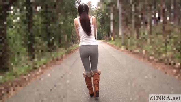 tsubaki katou embarrassing outdoor stroll