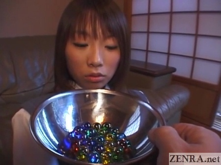 marbles presented to japanese schoolgirl