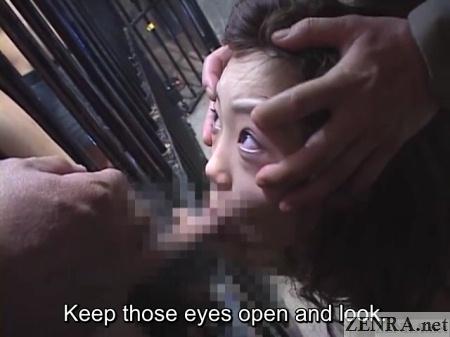 eyes wide open japanese blowjob