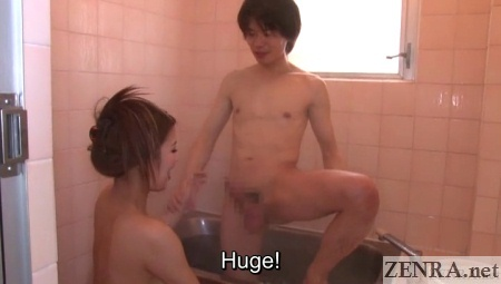 shower room foreplay with huge dick