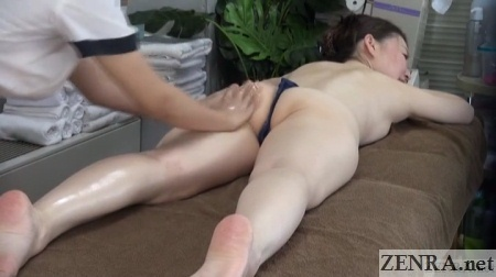 prone japanese massage big butt