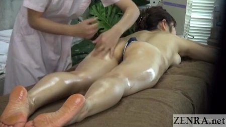 face down japanese massage in thong