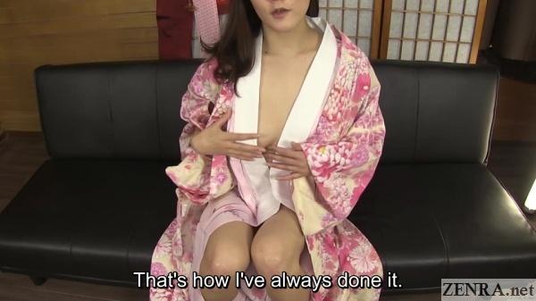 half naked japanese woman in open kimono
