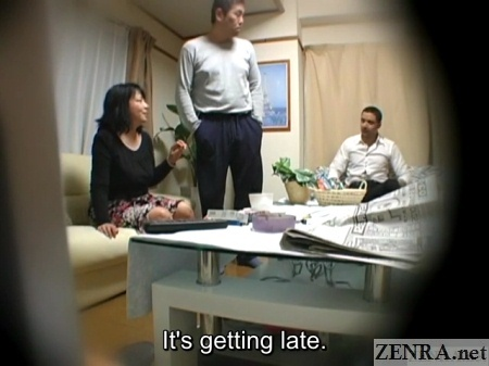 secert japanese tryst almost caught by gruff husband