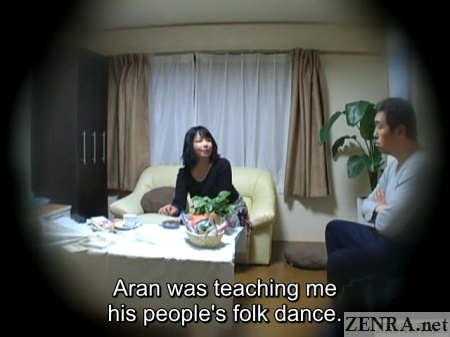 japanese wife covers sex with folk dance story