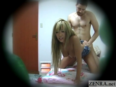 sex from behind between gyaru and foreigner
