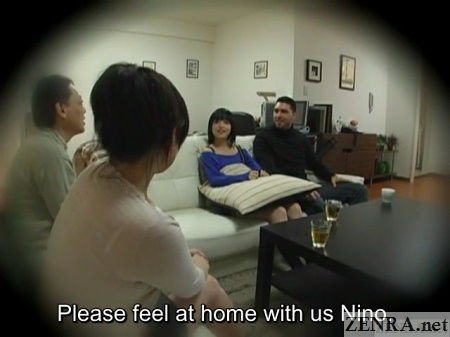 Subtitled japanese homestay gone wrong cfnm blowjob 2