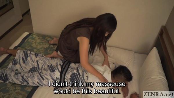 hotel massage with beautiful therapist