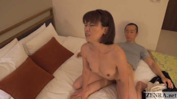 reverse cowgirl with hotel masseuse