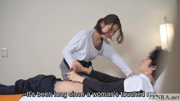 Masturbation gesture gone wrong