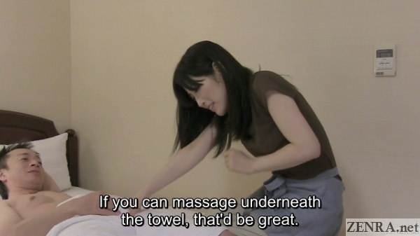 pale milf masseuse touches aroused customer