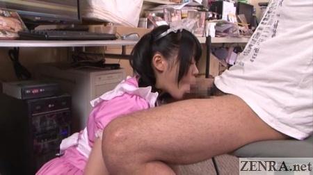 japanese maid blowjob in rash hq